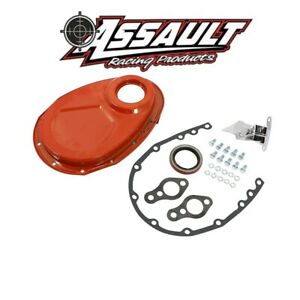 Sbc Chevy 350 Orange Steel Timing Chain Cover Kit Small Block 305 327 400 New