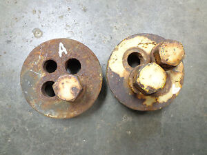 John Deere R 80 820 830 R14r Hub Cap Drive Wheel Retainers Set Of 2 With Bolts