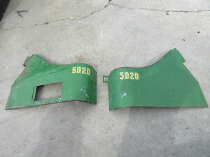 John Deere 5020 6030 Row Crop Side Dust Shields Ar40931 Ar40930 Rare Set
