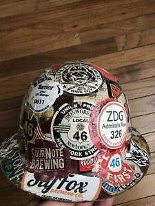 Msa Safety Skullgard Hard Hat Full Brim Freedom Tower Nyc Vintage Ironworkers 46
