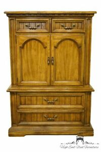 Dixie Furniture Italian Provincial 42 Door Chest On Chest Armoire 588 309