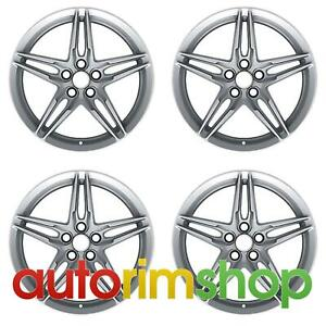 Ford Mustang 2018 19 Oem Staggered Wheels Rims Set Silver