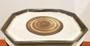 Mid Century Mod Martz Marshall Studio Pottery Large Tray Platter Plate Charger