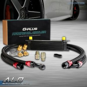 Gplus 10 Row An10 Thermostat Adaptor Engine Oil Cooler 2 Oil Lines Kit Black