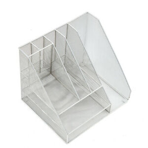 Mr garden Desk Organizer Office Supplies Metal Mesh Desktop File Holder Rack