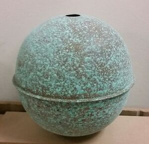 Copper Ball 8 Antigue Finish Extra Large For Weathervanes Or Lightening Rods