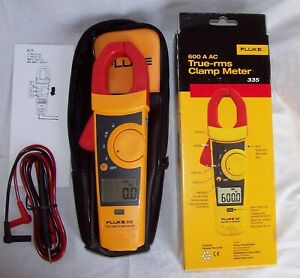 Fluke Clamp Meter 335 With Leads True Rms Multimeter
