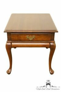 Cresent Furniture Solid Cherry Queen Anne 22 End Lamp Table