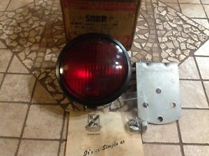 Vintage S M 58rr Tail Stop Light Glass Lens 5632 Red Nib Lamp Auto Truck Bus