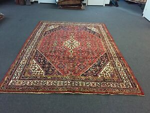 On Sale Great Hand Knotted Persian Hamadan Area Rug Traditional Carpet 7 4 X10