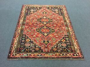 On Sale Semi Antique Hand Knotted Persian Shirazz Yalameh Rug Carpet 4 2 X5 4