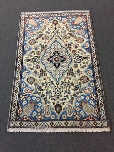On Sale Fine Hand Knotted Persian Naein Naeen Silk Wool Rug Carpet 2 9 X4 4