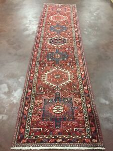 On Sale Semi Antique Hand Knotted Persian Geometric Runner Carpet 2 11 X11 9