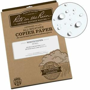 Rite In The Rain All Weather Copier Paper 8 1 2 Weatherproof Papers White