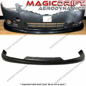 For 10 12 Nissan Altima 4dr Sedan Mdp Style Vip Front Bumper Lip Spoiler Kit