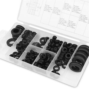 180pcs 7 8 5 8 1 4 1 2 1 O Ring Rubber Grommets Electrical Wire Assortment Kit