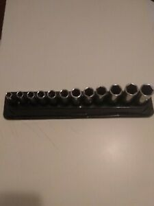 Snap On Tools 6pt Socket Set 3 8 Drive Deep Metric 8 19mm Magnetic Tray