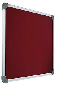 Notice Board Lightweight Aluminium Frame Maroon Bulletin Board 1 5 X 1 Feet