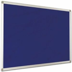 Notice Board Lightweight Aluminium Frame Blue Bulletin Board 1 5 X 1 Feet