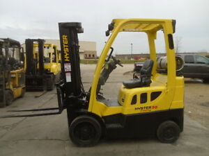 Cushion Forklift 2009 Hyster S50ft 5000