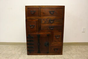Japanese Tansu Double Sided Cabinet