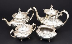 Reed Barton 4 Piece Set Sterling Silver Coffee Tea Service Hampton Court 661