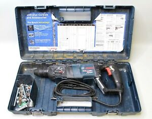 Bosch 11255vsr Bulldog Xtreme Sds plus Rotary Hammer Drill And Case extras