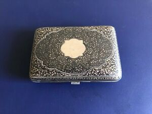 Antique Imperial Russian Silver Cigarette Case Circa 1840 70
