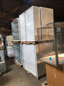 Overhead Glass Lab Cabinets With Sliding Glass Doors And Shelves 4 x4