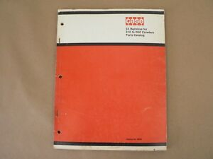 Vtg Service Parts Catalog Case International 33 Backhoe 310 G 450 Crawlers 1969