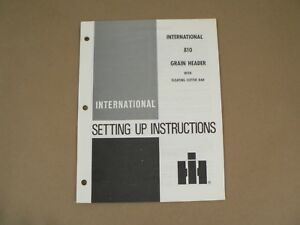 International Harvester Owners Manual 810 Grain Header Floating Cutting Bar 1976