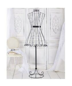Decorative Vintage Look Dress Form Metal Wire Mannequin Boutique Stand Sewing
