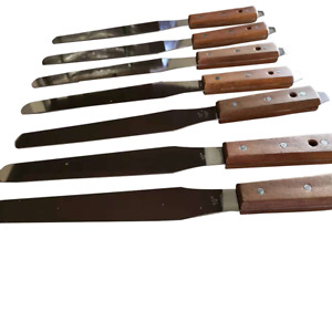 8 Ink Spatula For Screen Printing Stainless Steel Wood Handle Ink Knife 4 Pc