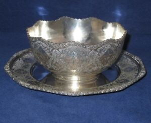 Antique Iranian Coin Silver Bowl Plate By Jahrami Islamic Iran Persian