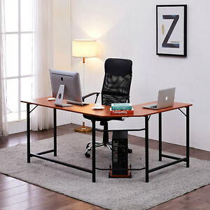 Home Office Desk L shape Corner Computer Pc Latop Table Workstation Home Office