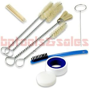 13pc Hvlp Air Tool Paint Spray Gun Cleaning Kit Siffer Bristle Brushes Lubricant