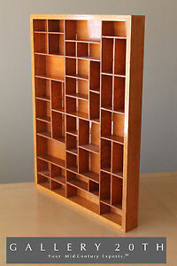 Awesome Huge Mid Century Modern Shadow Box Pine Wood Interior Decor Vtg 1950 S