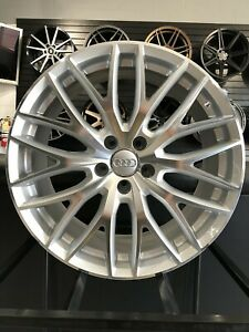 Set Of 19x8 5 Machined Face Silver Q8 Style Wheels Fits Audi A3 A4 A5 S3 S4 S5