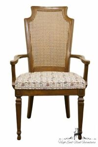 Drexel Furniture Italian Neoclassical Cane Back Dining Arm Chair