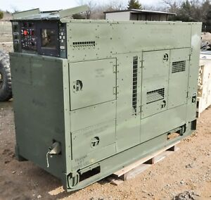 60kw Diesel Generator Mep 806b John Deere Powered Low Hours Military
