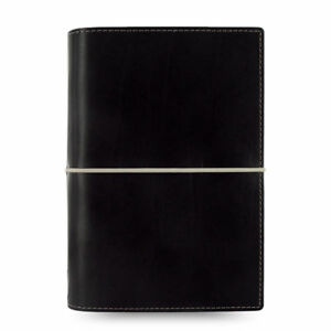 New Filofax Domino Personal Size Organizer Diary Notebook Black Leather 027802