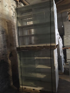 Overhead Reagent Glass Lab Cabinets With Sliding Glass Doors And Shelves 4 x4