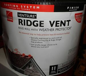 Owens Corning Ventsure Roof Ridge Vent rr02 Rigid Roll 11 X 20
