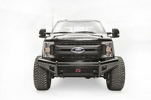 Fab Fours Fs17 s4161 1 Steel Front Ranch Bumper Fits 2017 Ford F 250 Super Duty