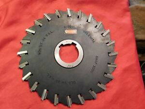 Valenite Stagg Hss Slitting slotting Indexable Milling Cutter 10 X 3 8 X 2