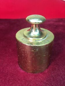 Antique Brass Balance Scale Weight 1 Kilogram Kilogramo Royal Emblem Stamps