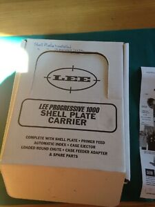 Lee Progressive 1000 Shell Plate Carrier #19 and #11 Powder Measure Used