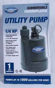 Superior Pump Hp Submersible Thermoplastic Utility Pump 91250