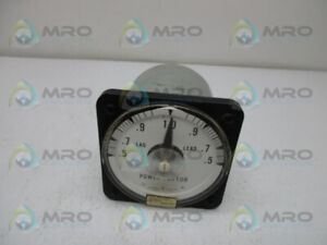 General Electric 50 112402fcad1 Power Factor Meter New No Box