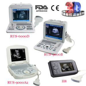 Portable Digital Ultrasound Scanner Diagnose Machine 3 5 Convex Probe Free 3d